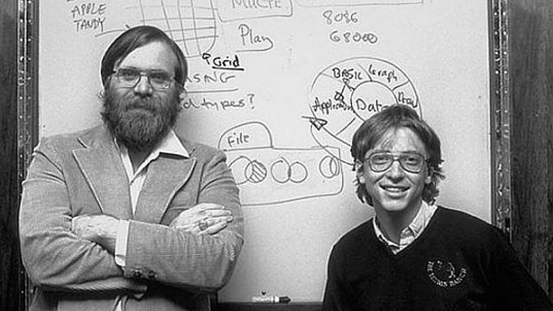 Bill Gates e seu amigo e Co-Fundador da Microsoft, Paul Allen