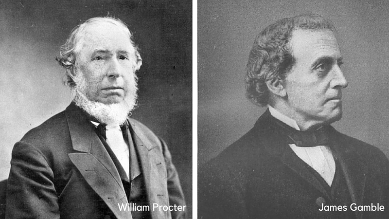 William Procter e James Gamble - Co-Fundadores da Procter & Gamble