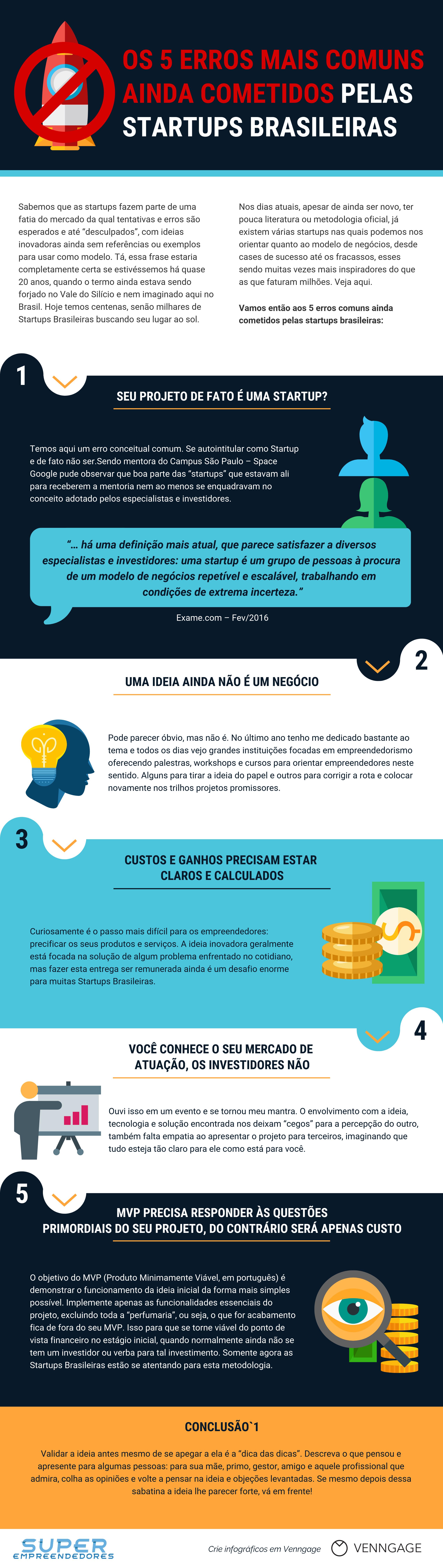 Infográfico - Os Erros Mais Comuns Ainda Cometidos Pelas Startups Brasileiras
