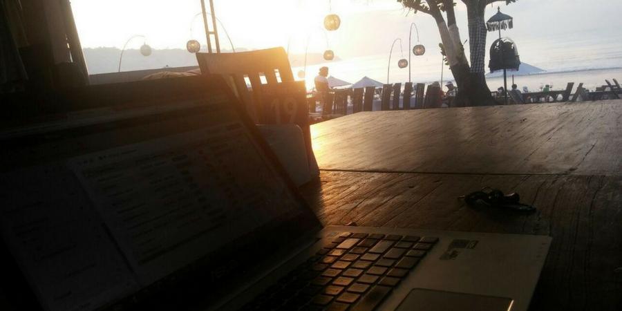 Trabalhando em Bali